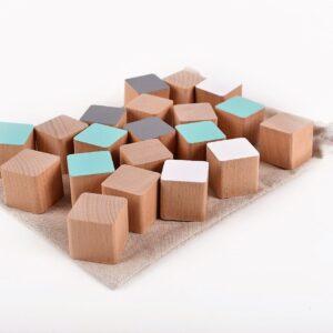 Dřevěné kostky mentolové 20 kusů včetně látkového pytlíku