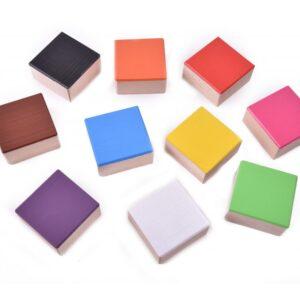 Dřevěné kostky barevné 10 kusů
